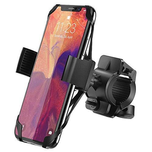 IPOW Handyhalterung Fahrrad Metall Handyhalter fürs Fahrrad mit 360 Drehen, Fahrradhalterung Motorradhalterung Universal für iPhone Samsung Huawei Smartphone GPS Geräte …