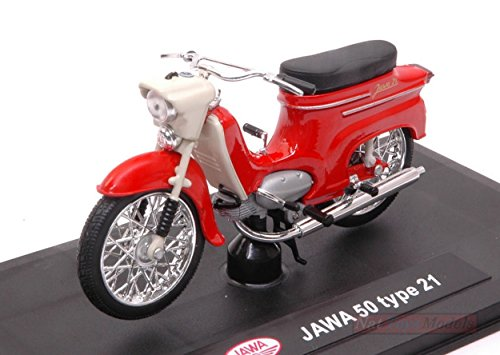 Abrex Modelo A Escala Compatible con Scooter Jawa 50 Type 21 Red 1:18 ABM011C