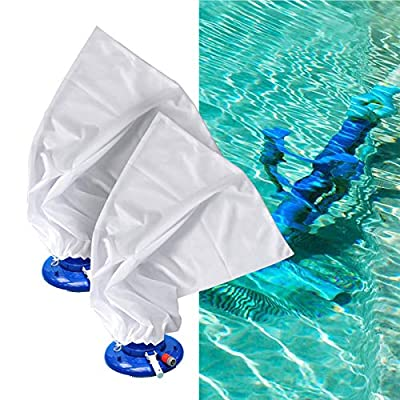"""PAMASE 4 Packs High-Density Fine Mesh Replacement Bag- 16"""" x 24"""" Vacuum Pool Cleaner Bags with Pull Lock for Pool Leaf Vacuum Leaf Pool Leaf"""