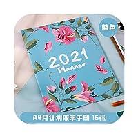 アジェンダ20202021A4ノートブックとジャーナル365日ウィークリーマンスリープランナーオーガナイザースケジュールブックスクールハンドブック事務用品-365 Day Planer-A4