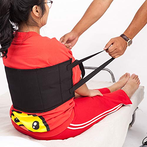 Padded Bed Transfer Nursing Sling, Patient Lift Sling Transfer Belt, Safety Secure Transfer Sling, Moving Assist Hoist Gait Belt with Heavy Duty 400lb Weight Capacity and Handles