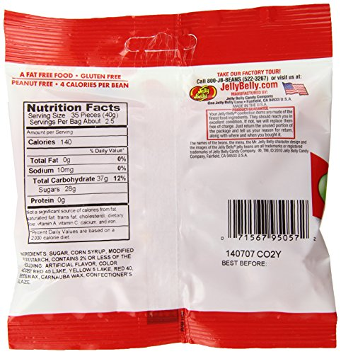 Jelly Belly Sizzling Cinnamon Jelly Beans, 3.5-oz, 12 Pack