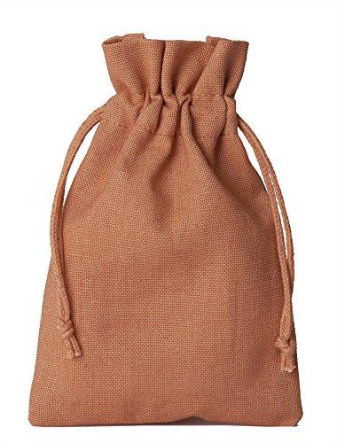 12 Baumwollsäckchen, Baumwollbeutel in Größe 23x15 cm mit Baumwollkordel, Geschenksäckchen, Adventskalender (Kupfer)