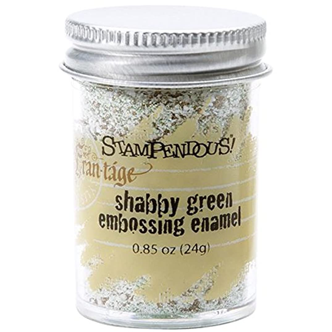 STAMPENDOUS Frantage Embossing Shabby Enamels, Green Color