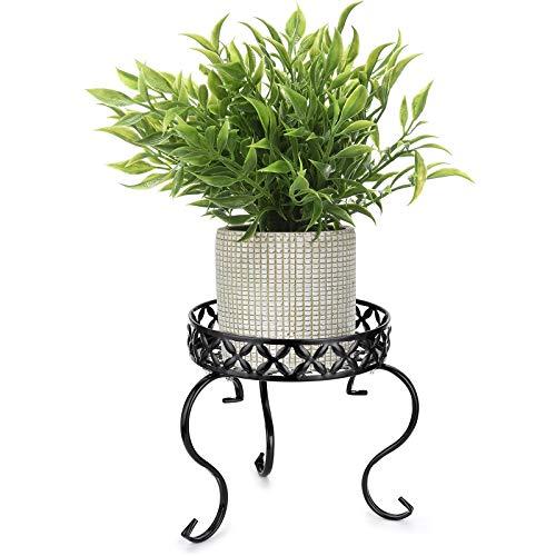 SUMNACON 1 supporto per piante in metallo artistico per vasi da fiori in vaso per interni ed esterni, nero (non include pianta)