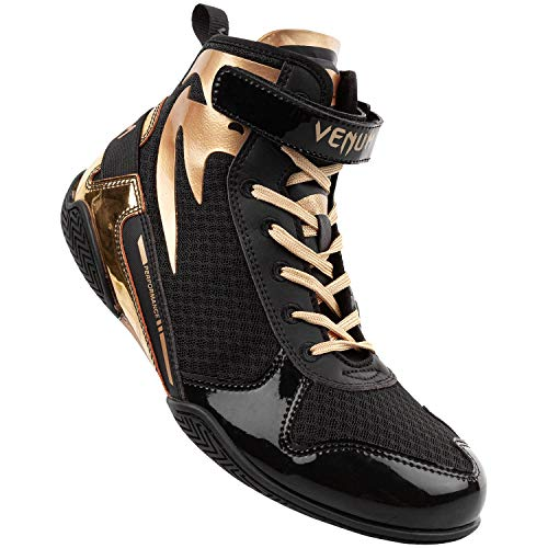 Venum Giant Low, Calzado de Boxeo Unisex Adulto, Negro/Dorado, 43 EU