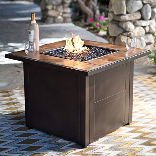 Jee Design- Firepits for Outside Propane-Fire Pit Tables for Outside Patio-32 Square-The Centerpiece of Your Outdoor Entertainment Space