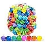 Famyfamy 100Pcs Plástico Océano Bolas, Bebé Juego Bolas Niños Nadar Pozo Juguete Colorido Bola Suave Divertido Niños Juego de la Bola Multicolor Suave Pozo Bolas