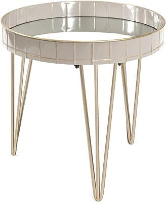 Haku Möbel Table d'appoint, Tube d'acier, Gris-Bronze, Ø: 51 x 50 cm