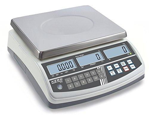 Zählwaage - Preisgünstiges Profimodell [Kern CPB 6K0.1N] Präzision bis 0,1 g, Wägebereich max. 6 kg