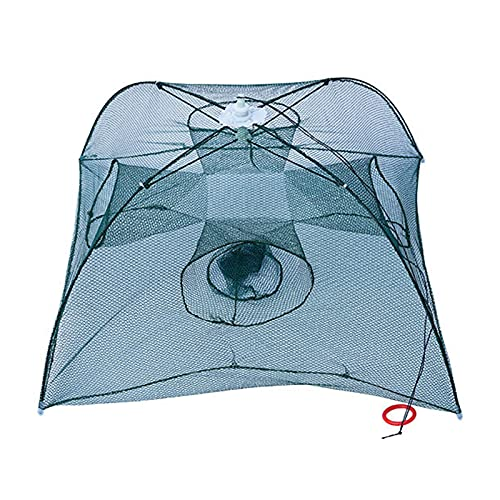 belupai 漁捕穫網 漁網 魚捕り網 漁具 自動釣りネット お魚キラー 魚捕り 網かご 餌を入れて鎮めるだけで簡単に魚が捕れる 漁具 エビ/カニ/魚/タコ/アナコ フィッシング アウトドア 4穴