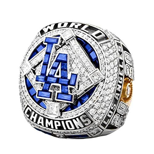 TYTY 2020 MLB 22#Kershaw Dodgers Championship Ring Campeonato, campeones Anillo de réplica para Aficionados Colección del Regalo del Recuerdo de los Hombres,Without Box,10