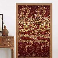 のれん戸口カーテン中国ドラゴン日本ののれん戸口カーテンロングタペストリードアカーテンデコレーションシェーディング用仕切りホームキッチン寝室バスルームオフィス