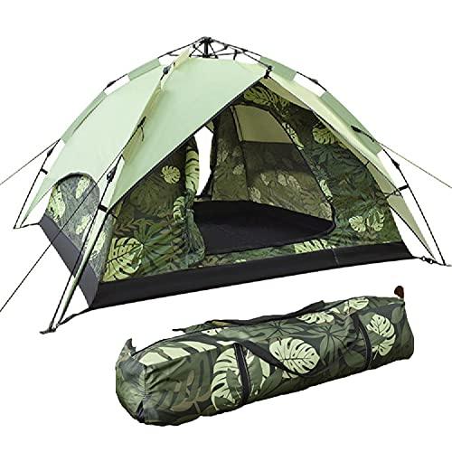 TAOBEGJ Carpa Domo, Carpa túnel, Carpa Camping, Tienda de Senderismo Ultraligera e Impermeable para 3/4 Personas, fácil de Montar, también Ideal para Acampar en el jardín,Green