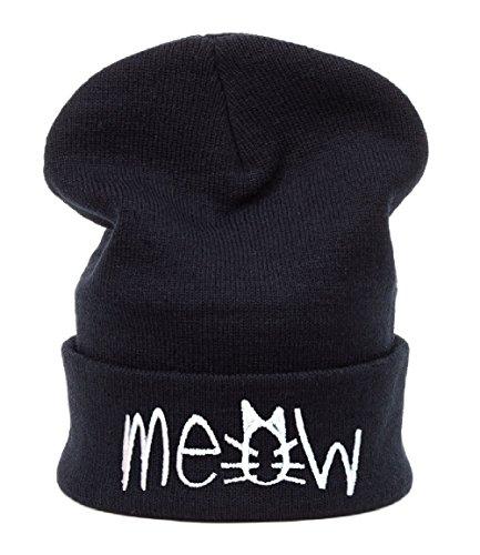 Beanie Hat Bonnet Fashion Jersay Oversize Bad Hair Day Bastard Diamond Meow