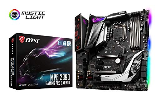 MSI MPG Z390 GAMING PRO CARBON Performance  - Placa base (LGA 1151, Twin Turbo M.2, Mystic Light RGB LED, 3 x PCI-E x16, Core Boost, M.2 SHIELD FROZR, 5 x USB 3.1 Gen2, Audio Boost 4)