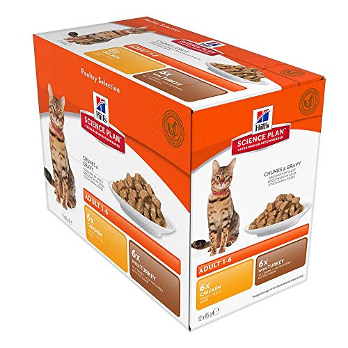 Hill's Science Plan - Cat Feline Pouches - Wet Food - Adult - Optimal Care Poultry Selection (12 Pouches)