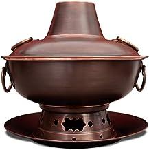 Pot Chaud Pot Chaud en Cuivre Résistant Aux Brûlures Pot Chaud Domestique Ensemble Pot Chaud Épicé Chinois Partie Charbon ...