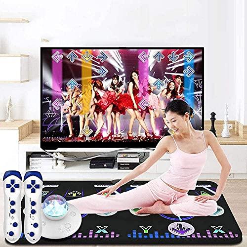 NKTJFUR Double Dance Mat, Wireless Somatosensory HD TV TV PC Máquina de Baile de Doble Uso automático Auto-actualización Los Juegos de música de Baile para Adultos/niños