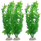 Ularma 3-Piece Aquarium Fish Tank Plants Green Water Grass Decorative Ornament 10.6 inch