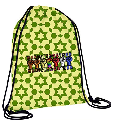 L-RIN Convenient Drawstring Tote We Raise Together Sport Cinch Sack