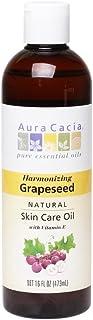 Aura Cacia Aromatherapy Grapeseed Skin Care Oil 16 Oz Bottle