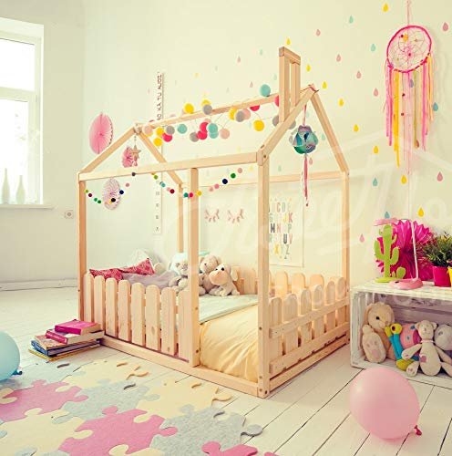 ANY COLOR tent bed children wooden house wood nursery kids teepee bed wood bed frame wood house bed Toddler bed house bed EXPRESS delivery