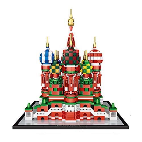 ZXIAQI Arquitectura Catedral de San Basilio Conjunto de Bloques de Construcción Modelo, Monumento de Fama Mundial Juguetes de Puzzle 3D, Regalos para Niños y Adultos, 2482pcs
