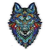 kaikki Rompecabezas De Madera - Piezas De Rompecabezas De Formas Únicas Majestic Wolf Puzzle Adultos Y Niños, Ideal para La Colección De Juegos Familiares