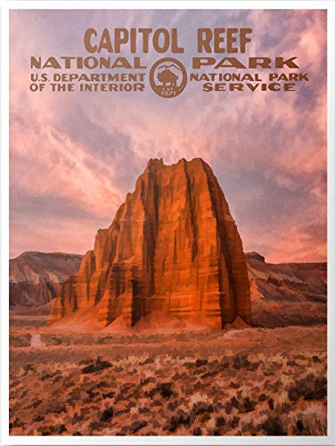 SANTANNA Natural Landscapes Poster, US National Park Art Print, Vintage Travel Posters, Bundle Set of Up to 3, Wall Art for Home Office Decor, Design 1 Collection 1
