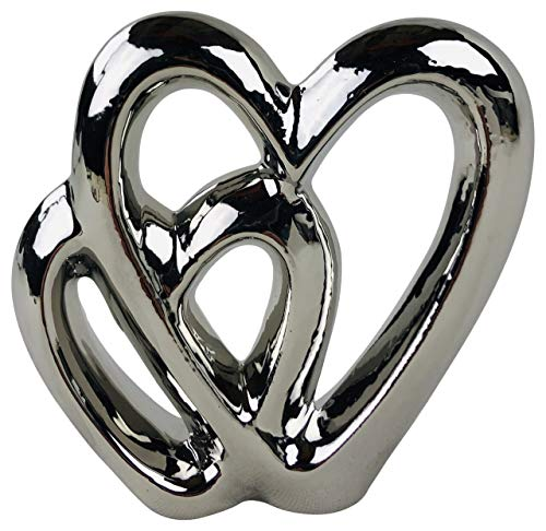 SIL Interiors Silver Double Heart Ornament