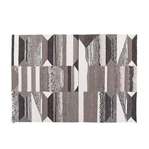 Tapis JXLBB Main Faite De De Laine De Salon Canapé Table Basse Couverture Super Doux Designer Tridimensionnel Fenêtre Fenêtre Brun 0.7x1.2m