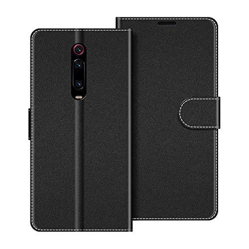 COODIO Custodia per Xiaomi Mi 9T, Custodia in Pelle Xiaomi Mi 9T, Cover a Libro Xiaomi Mi 9T PRO Magnetica Portafoglio per Xiaomi Mi 9T / 9T PRO Cover, Nero