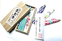ひょうたんや 日本製 黒文字菓子ようじ3寸(約9センチ)桐箱入り(10本入り)