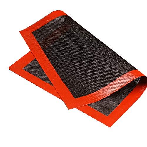 Seezoomtiy Alfombrilla de horno de silicona para horno, antiadherente, resistente al calor, reutilizable, resistente, ecológico, para horno, microondas (40 x 30 cm)