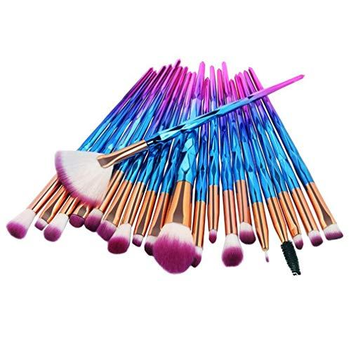 Ensemble de pinceaux pour les yeux, Kemxing 20 pcs Fard à paupières Brosses à sourcils Kit Pinceaux de maquillage Brosse à lèvres Correcteur Brosses de mélange Pinceau professionnel
