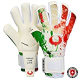 Renegade GK Edizione Limitata Rogue Patriot IT Guanti da Portiere & Microbe-Guard con PRO Protezione Dito | 4mm Giga Grip | Guanti Portiere Calcio Uomo (Taglia 8, Gioventù-Adulti, Neg. Cut, Level 4+)