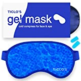 Ticlo's Gel Eye Mask - Cooling Ice Cold Compress Pad -...