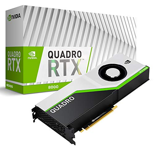 PNY Quadro RTX 8000 Tablet 48 GB GDDR6, Black, Green, Silver (VCQRTX8000-PB)