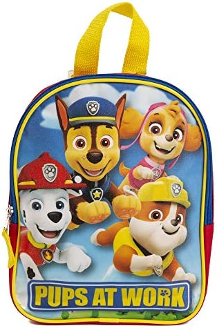 Paw Patrol Mini Backpack for Kids Toddlers 10 Inch Red Blue Yellow product image