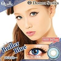 カラコン 度なし 1箱2枚入り QuoRe Donna Series/ソブレ/119131 14.0mm【BrillerBlue--0.00】