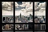 New York - Fensterblick Städte Poster Plakat Druck -