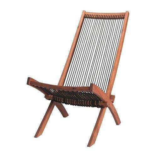 BROMMÖ - Tumbona, exterior, color negro, marrón