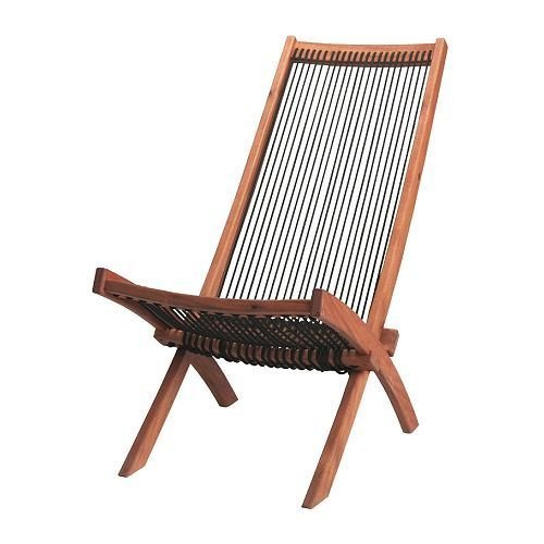 BROMMÖ - Ligstoel, buiten, zwart, bruin
