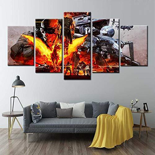 Pintura de la lona Arte de la pared Metal Gear Solid V...
