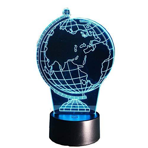 Wangzj Herz 3D Nachtlicht Kreative Elektrische Illusion 3D Lampe/Hauptdekorationen Für Wohnzimmer/Geschenke Für Freundin Für Geburtstag Globus