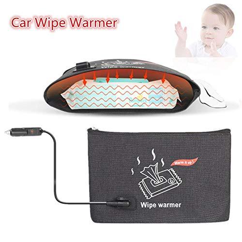 Yunhigh Baby wischen Wärmer für Auto, tragbare Reise wischt Heizung, Heizung nass wischen isolierte Tasche warm Thermostat 38 38-45 ℃ für Babys mit 12V Auto-Zigarettenanzünder