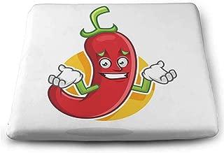 FCTBG Feeling Sorry Chili Pepper Mascot Chili Pepper Character Chili Pepper Cartoon Comfort Cushion W15xL13.7