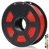 ANYCUBIC 1KG Filamento de 1.75 mm PLA Impresora 3D, Filamento PLA para Imprimir en 3D en Impresoras 3D y Lápices 3D (Rojo)