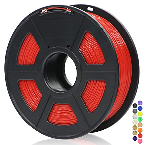 ANYCUBIC 3D Printer 1KG 1.75mm Filament PLA, 3D Printing PLA Filament for 3D Printers & 3D Pens (Red)